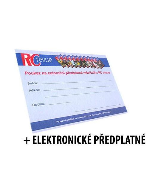 Předplatné RC revue 12 měsíců + elektronické předplatné